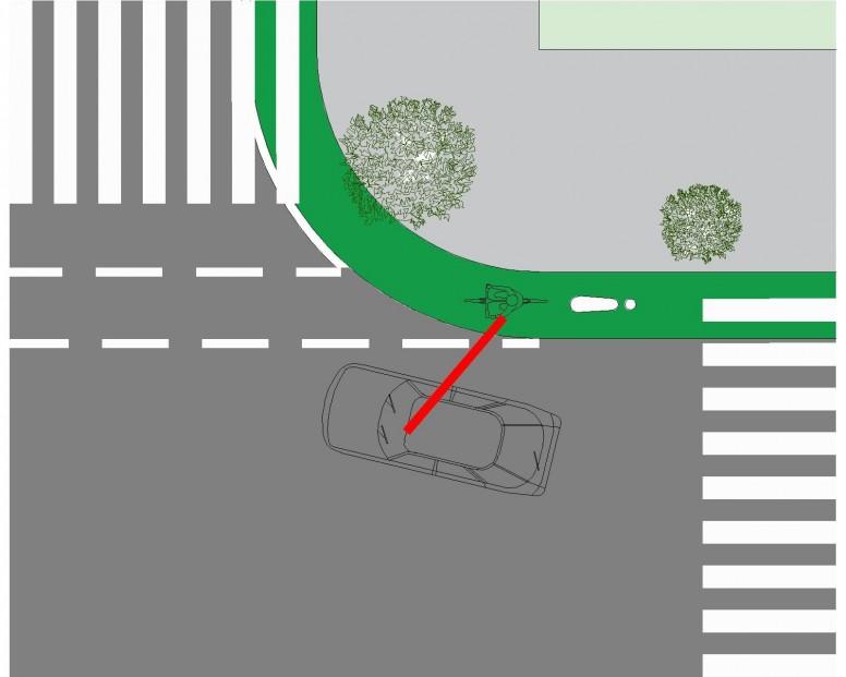 intersección con vía para ciclistas 6