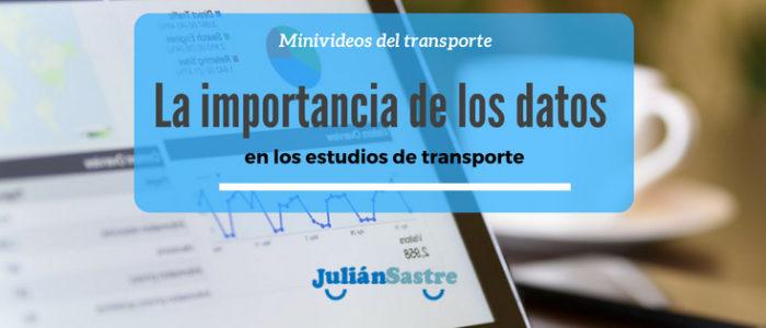 datos en estudios de transporte