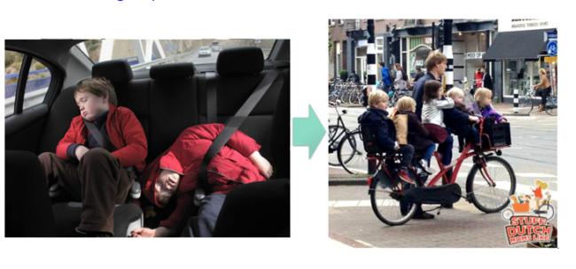 usar la bicicleta