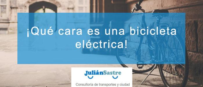 ¡Qué cara es una bicicleta eléctrica!
